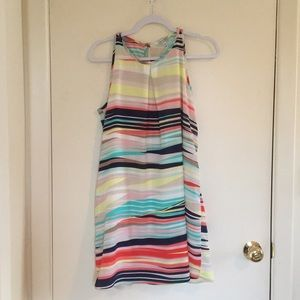 Colorful Striped Swing Dress